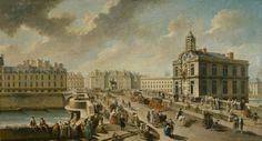 Le Pont-Neuf et la Pompe de la Samaritaine, vus du quai de la Mégisserie   Paris Musées   Artist: Nicolas-Jean-Baptiste Raguenet