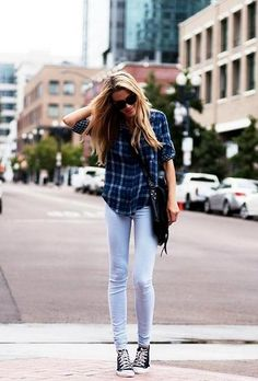 exPress-o: Autumn Trend: Plaid Shirt & Jeans