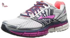 Brooks Adrenaline GTS 14 W 2A, Chaussures de course femme, Multicolore (White/Fuchsia/Midnight), 36.5 EU (4 UK) (6 US) - Chaussures brooks (*Partner-Link)