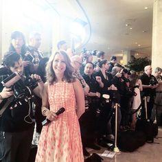 Style Expert Alison Deyette on the red carpet in L.K. Bennett.