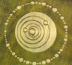 Crop circles | Fig. 3.10 Solar system glyph, Longwood Warren, Hampshire, 22 June 1995 ...