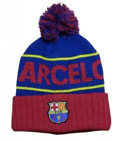 dcd1b308caa FC Barcelona Style Beanie (PomPom) Soccer Gifts