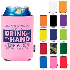 200 custom wedding koozies wedding favors by loveydoveycreations 25000