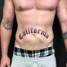 •California• • • #angelopeztattoos #california #lettering #letteringtattoo #oldenglish #blackworkers #californialove #leucadia #encinitas #solanabeach #sandiego #longgone #longgonearts #sandiegotattooartist #sandiegoconnection #sdlocals #encinitaslocals - posted by Angel Lopez Electric Tattooing https://www.instagram.com/angelopez. See more post on Encinitas at http://encinitaslocals.com
