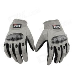 OUMILY Outdoor Tactical Full-finger Gloves - Gray (Size L / Pair) Price: $15.16