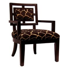 Giraffe Print Side Chair.