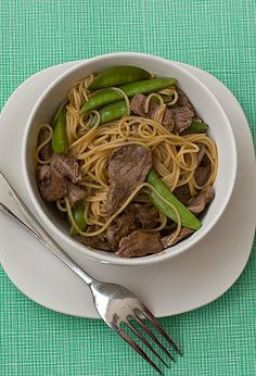 Orange Teriyaki Beef with Noodles |