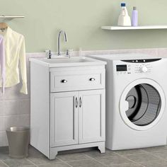 Laundry Base Cabinet - Home Furniture Design Laundry Tubs, Laundry Room Cabinets, Laundry Room Organization, Laundry Rooms, Hand Washing, Washing Clothes, Over The Door Hanger, Household Chores, Base Cabinets