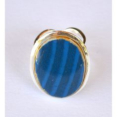 blue oval ring