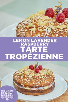 A Tarte Tropézienne is a giant luscious cream-filled brioche bread sandwich. This version has a subtle lavender flavour, along with lovely lemon and raspberry. Culinary Lavender, Lemon Syrup, Brioche Bread, Baker Recipes, Egg Whisk, Specialty Foods, Instant Yeast, Tarts, Raspberry