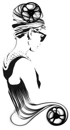 Beautiful portraits created out of tapes | Audrey Hepburn/Breakfast at Tiffany's by Erika Iris | Vuing.com