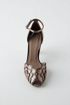 Metallic Scalloped Pumps
