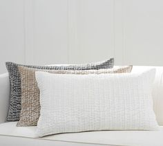 Quilted Shiny Velvet Lumbar Pillow Cover | Pottery Barn