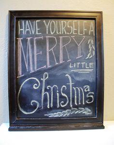 Rambling Revovators Blog  Christmas idea for large chalkboard.