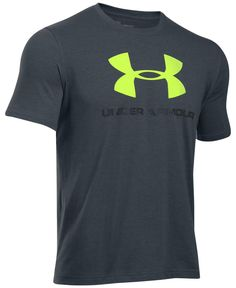 Under Armour keeps it classic in this crew-neck tee with a signature logo at the chest. | Cotton/polyester/elastane | Machine washable | Imported | Under Armour men's T-shirt | Crew neck | Short sleev