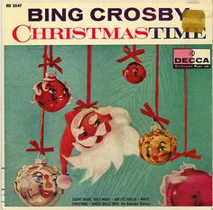 Vintage Mid Century DECCA Extended Play 45 Record - Bing Crosby - Christmas Time by on Etsy Christmas Jingles, Christmas Albums, Merry Little Christmas, Christmas Past, Christmas Music, Vintage Christmas Cards, Retro Christmas, Vintage Holiday, Christmas Movies