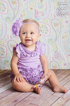Lemon Loves Layette Sheer Lilac Rula Romper