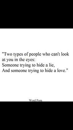 I hope it's love...