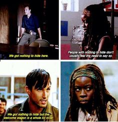 Michonne knew that place was whack before they even got there.