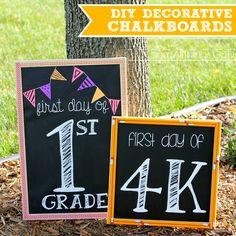 DIY Decorative Chalkboards