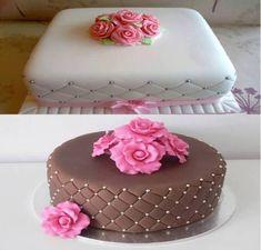 Pasta Americana de Leite em Pó Bolo Dino, Dino Cake, Frosting Tips, Cake Youtube, Chocolate Heaven, Elegant Wedding Cakes, Love Cake, Sweet Cakes, Party Cakes