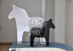 I want this white lucite Dala horse from Coooe in Sweden. I own several pieces of jewelry from them and have been a fan since meeting the owner in 08.