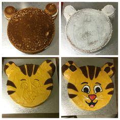 DIY Daniel Tiger cake Daniel Tiger Birthday Cake, Daniel Tiger Cake, Daniel Tiger Party, Second Birthday Ideas, Baby Birthday, First Birthday Parties, First Birthdays, Birthday Cakes, Third Birthday