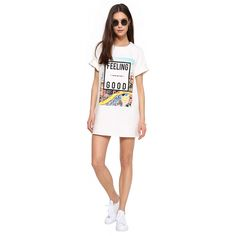 #GiftBuzz - Feeling Good Tunic #Dress | Necessary Clothing A cute boxy graphic dress.  Information This dress has graphic at front with capped sleeves. Pair with sneakers. Available in sizes S, M and L.