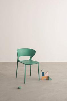 Amazing Stackable polyurethane chair KOKI Chair by Desalto