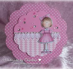 Lori Boyd Lollipop Gracie, PINK, Handmade Cards