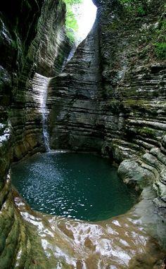 """Natural pools_ """"Kolibithres"""" Papigo, Epirus, Greece"""