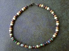 Mens Wooden Anklet Free Shipping by StixxandStones on Etsy, $14.00