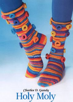 Holy Moly socks ( free knit pattern )