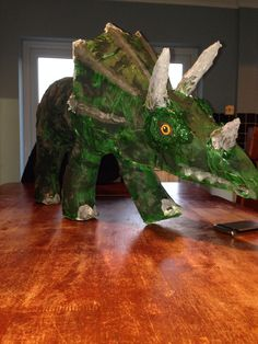 Baby Triceratops  www.daddydaddycool.com Lion Sculpture, Holiday, Projects, Baby, Log Projects, Vacations, Babies, Holidays Events, Infant