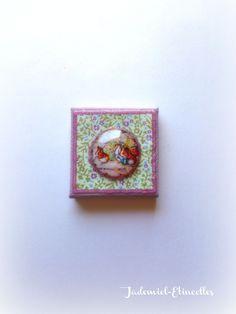 """Mini toile décorative série """" Parfum d' Enfance : Béatrix Potter """" n°7 : Accessoires de maison par jademiel-etincelles"""