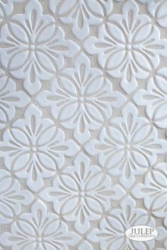 Design inspiration is everywhere. From elaborate wallpaper to something as simple as a flower, the inspiration for our handmade tile comes from many different places. Learn more about our Cobham handmade tile. Handmade Tiles, Handmade Home Decor, Kitchen Backsplash, Decorative Tile Backsplash, Hexagon Backsplash, Travertine Backsplash, Beadboard Backsplash, Herringbone Backsplash, Mosaic Backsplash