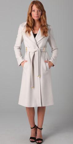 Soia & Kyo Bergi Wool Coat, Off White. Love their coats. | Wish ...
