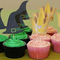 Wizard of Oz Cupcake Toppers - printable template available for just £1.99
