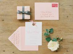 Pink Texas Wedding by Lauren Larsen, Part 2 - Southern Weddings Baby Invitations, Invitation Paper, Custom Invitations, Invitation Ideas, Invite, Fall Wedding, Our Wedding, Wedding Set, Wedding Stuff