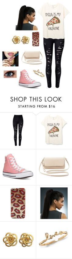 """No Valentine Outfit"" by american-nut ❤ liked on Polyvore featuring Converse, Charlotte Russe, pizza, valentinesday, valentines and valentinesday2015"