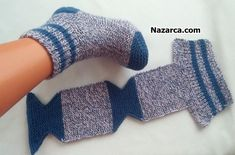 easy to knit, very comfortable to wear / easy socks with two skewers / knitted socks Knitting Blogs, Baby Knitting Patterns, Knitting Socks, Free Knitting, Crochet Patterns, Crochet Gifts, Crochet Baby, Knit Crochet, Knitted Slippers
