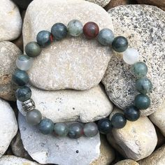 Your place to buy and sell all things handmade Crystal Bracelets, Crystal Beads, Lucky Stone, Spiritual Jewelry, Chakra Bracelet, Crystals And Gemstones, Silver Beads, Rose Quartz, Gemstone Jewelry