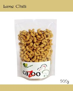 Flavoured Cashew Nuts, Dry Fruits, Cazootree, Lime Chilly Cashew Nuts