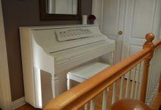 Chalk Painted White Piano