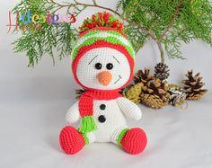 MOTIF décoration de Noël bonhomme de neige mignon par HavvaDesigns