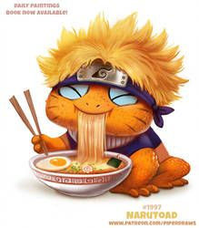 Daily Paint Narutoad by Cryptid-Creations Cute Food Drawings, Cute Animal Drawings Kawaii, Kawaii Drawings, Cute Fantasy Creatures, Cute Creatures, Animal Puns, Animal Food, Kawaii Illustration, Anime Animals
