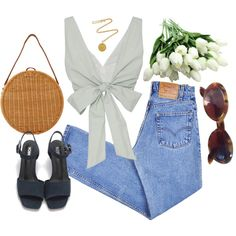 75 by marybordelon on Polyvore featuring Levi's, Serpui, Kenneth Jay Lane and Gucci