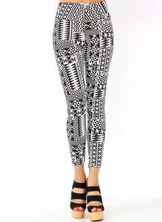 Geometric Print Leggings $26.00
