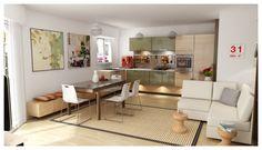 5 - ArchiDeco - Visuel 3D, exemple de proposition d'aménagement virtuel
