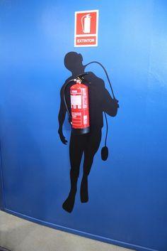 Clever decoration idea found at Aquarium Barcelona. : funny